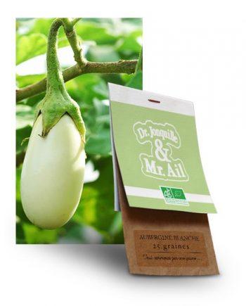graine aubergine blanche bio - Dr. Jonquille & Mr. Ail