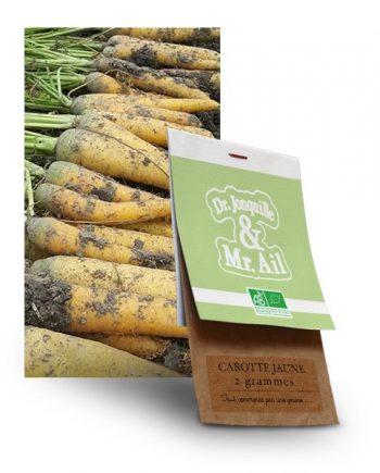 graine carotte jaune bio - Dr. Jonquille & Mr. Ail