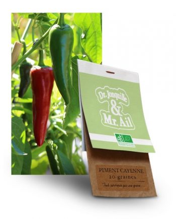 graine de piment de cayenne bio - Dr. Jonquille & Mr. Ail