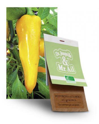 graine de poivron jaune allongé bio - Dr. Jonquille & Mr. Ail