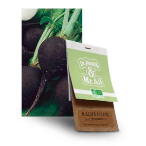 Graine de radis noir bio - Dr. Jonquille & Mr. Ail
