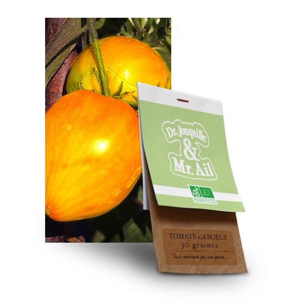 Graines Tomate Coeur de Boeuf Bio - Dr. Jonquille & Mr. Ail