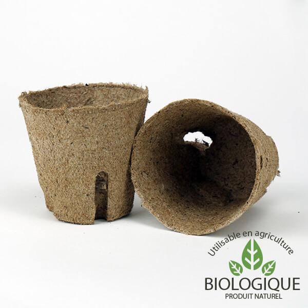 Pots jardinage biodégradables