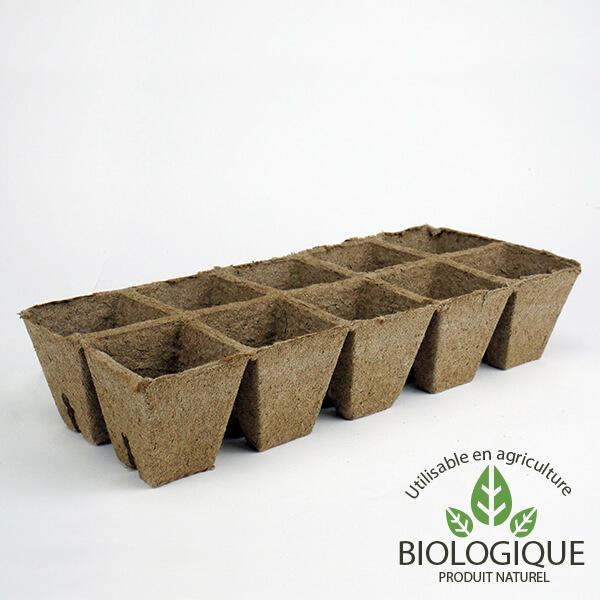 Pots jardinage Biodégradables et BIO strips 10 pots