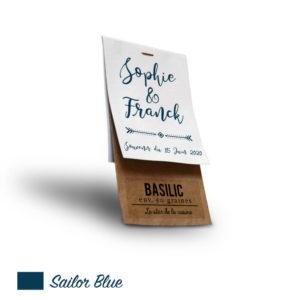 Sachet personnalisé mariage Sailor Blue
