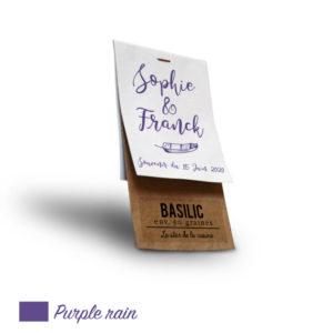 Sachet personnalisé mariage Purple Rain