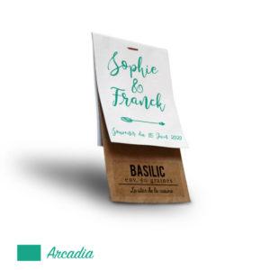 Sachet personnalisé mariage Arcadia