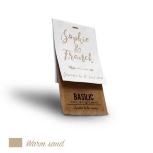 Sachet personnalisé mariage Warm Sand