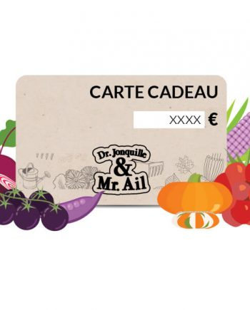 E - Carte cadeau Dr. Jonquille & Mr. Ail