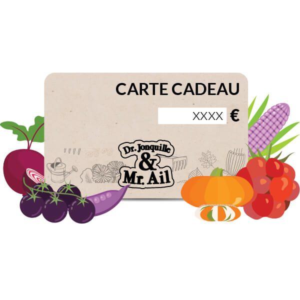 E - Carte cadeau Dr. Jonquille & Mr. Ail