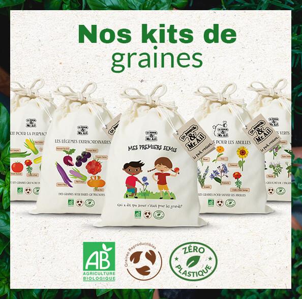 Dr. Jonquille & Mr. Ail - kits de graines bio et éco-responsable