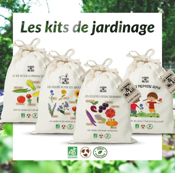 Dr. Jonquille & Mr. Ail - kits de jardinage bio et éco-responsable