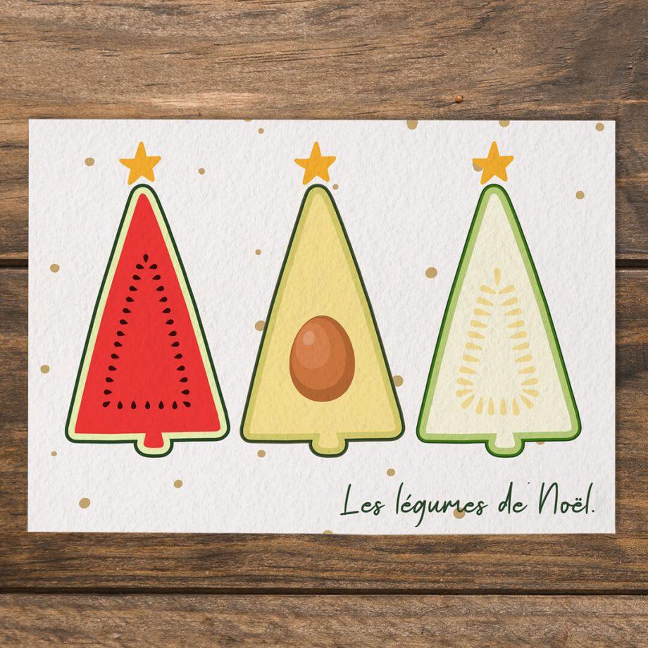 Dr. Jonquille & Mr. Ail - carte Les légumes de Noël