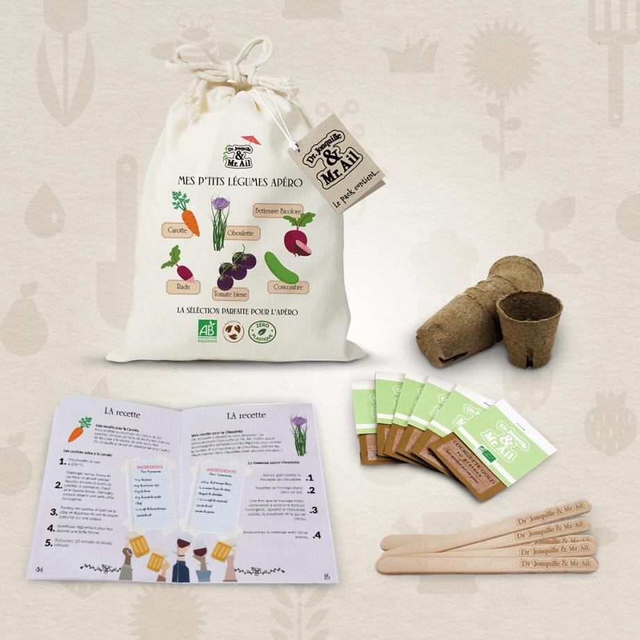 Kit de jardinage - Contenu du kit mes p'tits légumes apéro