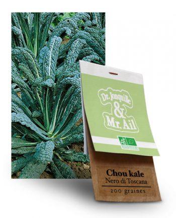 Graines Bio Chou Kale Noir de Toscane - Dr. Jonquille & Mr. Ail