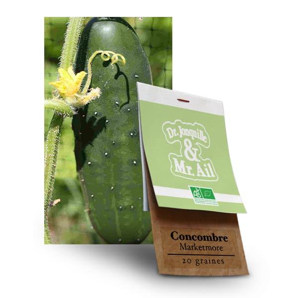 Graines Bio Concombre Marketmore - Dr. Jonquille & Mr. Ail