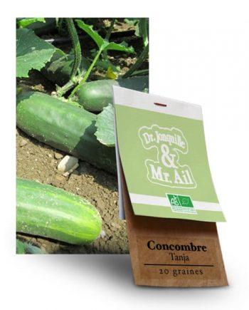 Graines Bio Concombre Tanja - Dr. Jonquille & Mr. Ail