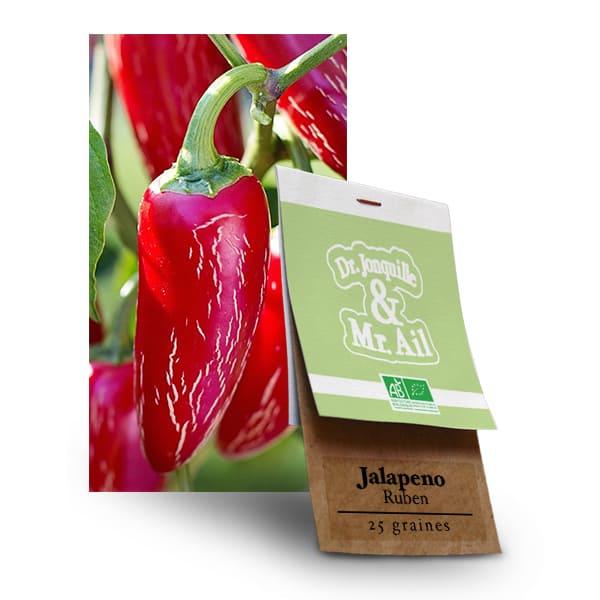 Graines Bio Jalapeno Ruben - Dr. Jonquille & Mr. Ail