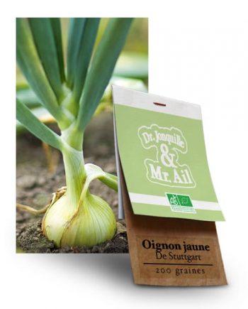 Graines Bio - Oignon Jaune de Stuttgart - Dr. Jonquille & Mr. Ail
