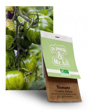 Graines Tomate Green Zebra BIO - Dr. Jonquille & Mr. Ail