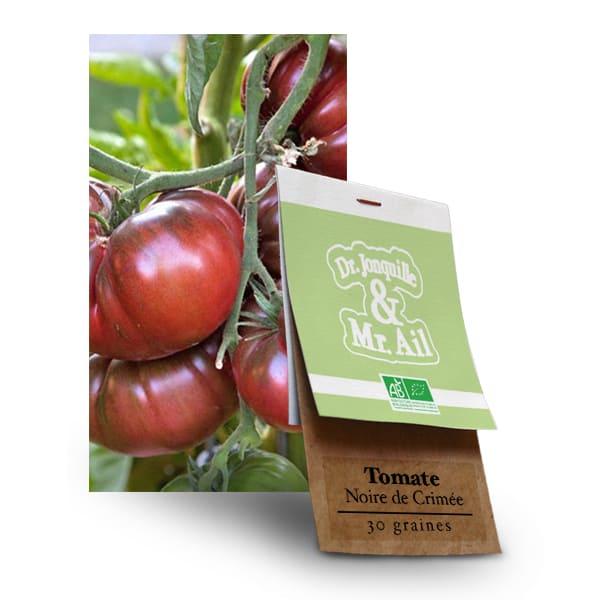 Graines bio Tomate Noire de Crimée - Dr. Jonquille & Mr. Ail