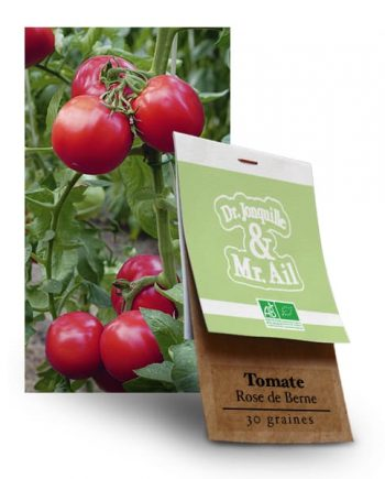 Graines bio Tomate Rose de Berne - Dr. Jonquille & Mr. Ail
