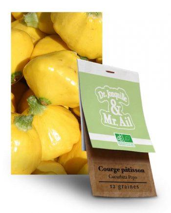 Graines Bio et Reproductibles Courge Patisson Cucurbita Pepo